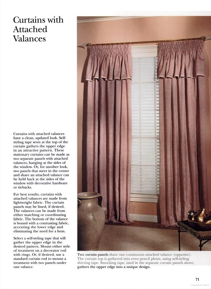 Curtains With Attached Valance Curtains Pinterest