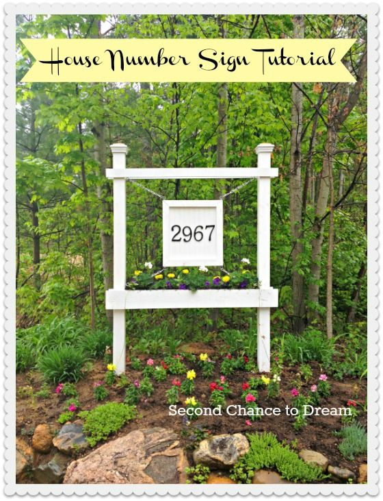 Second Chance to Dream: DIY House Number Sign Tutorial