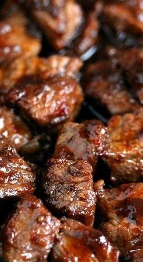 Steak Bites and Potato Bites. Recipes are here for both, the steak bites and the potato bites!