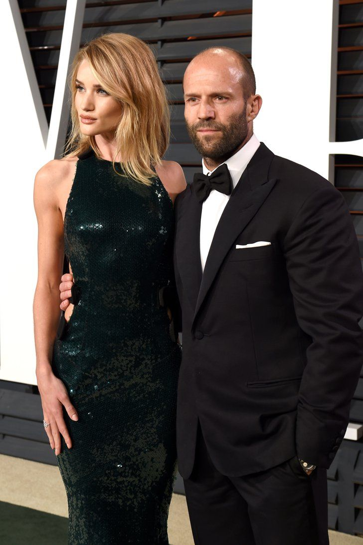 Pin for Later: See Which Stars Let Their Hair Down at Vanity Fair's Oscars Afterparty! Rosie Huntington-Whiteley and Jason Statham