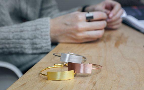 Modern minimalist bracelet sterling silver bracelet for