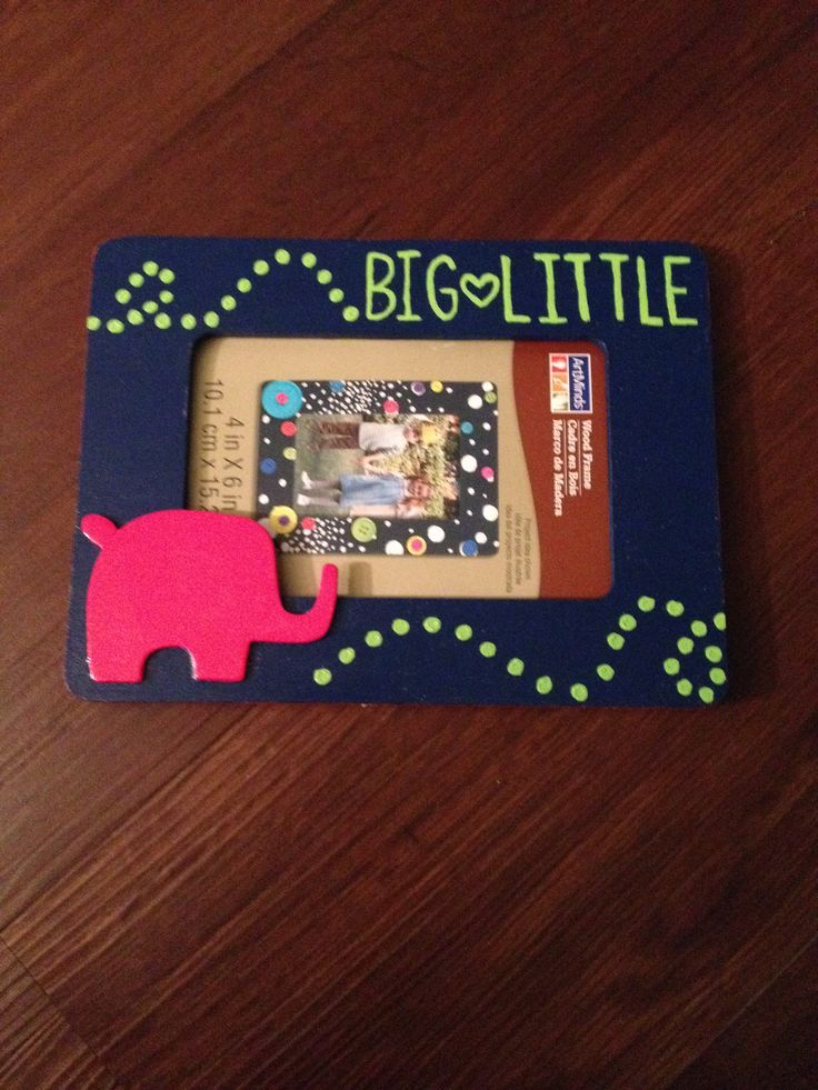 Big-Little. Lilly Inspired frame. Gamma Phi Beta.