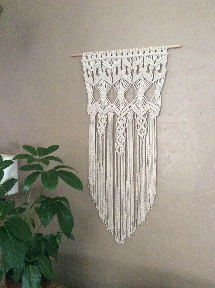 Soft And Elegant I Created This Beautiful Macrame Wall