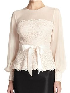 ericdress.com offers high quality  Ericdress Slim Patchwork Lace Blouse Blouses unit price of $ 17.09.