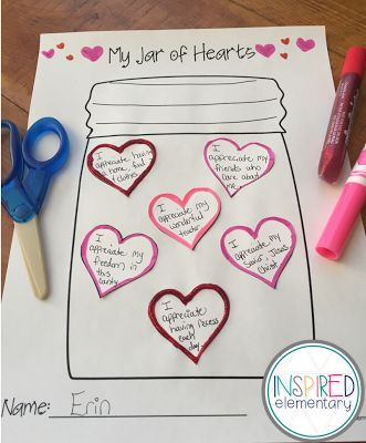 Free Writing Activity for February! Lesson plan and printable included.