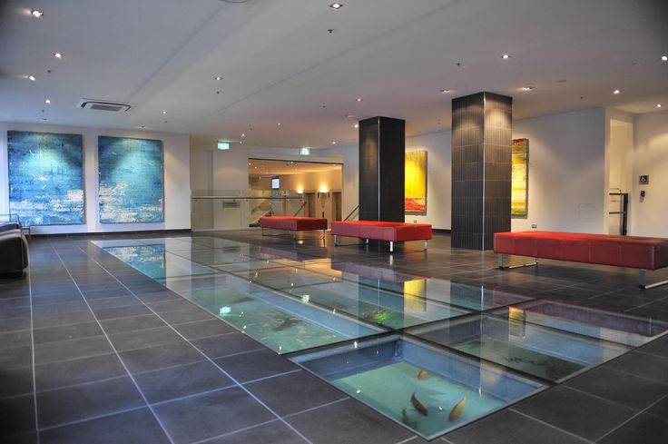 Check in at Rydges Sydney Central while Japanese Koi Fish swim around right under your feet!
