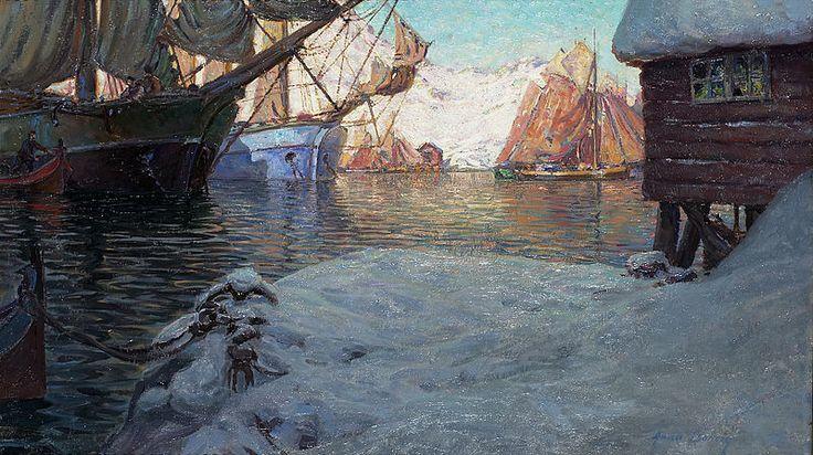 File:Anna Boberg-Fiskebåtar i hamn.jpg