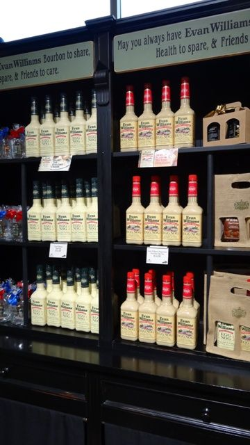 Display of Evan Williams Eggnog at Heaven Hill Distillery