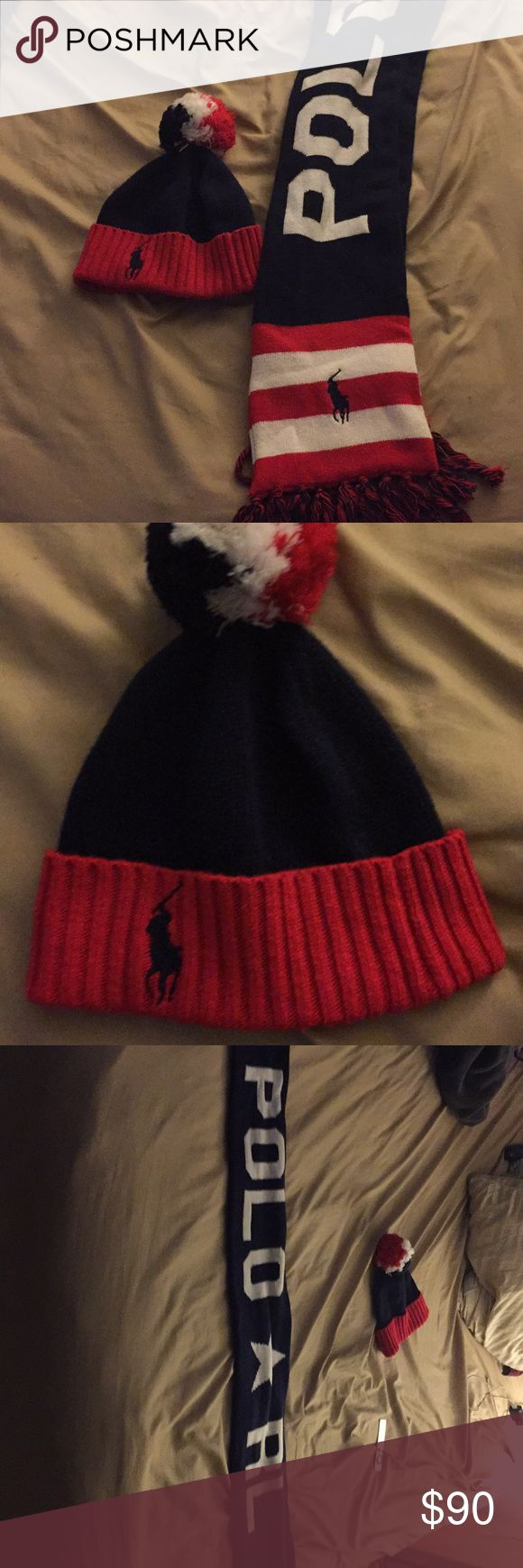 Polo Ralph Lauren hat and scarf set Up for sale is a brand new polo Ralph Lauren scarf and hat set. They have never been worn once. Retail value is around 130$. Perfect combo set. Brand new Polo by Ralph Lauren Accessories