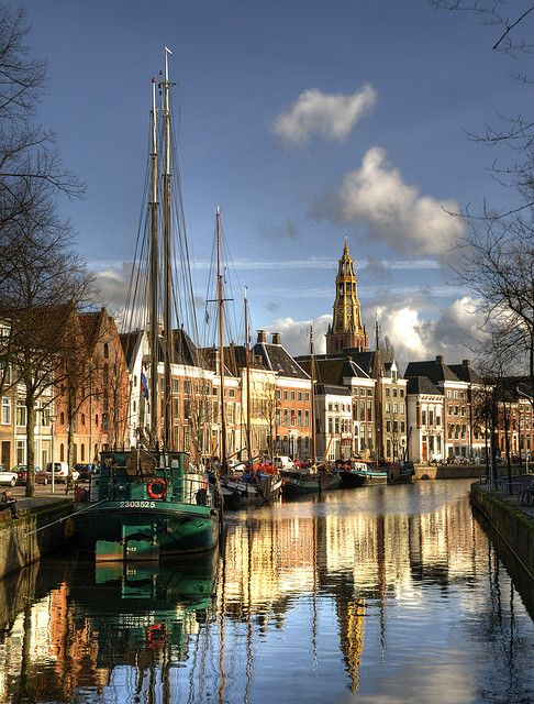 All my destinations are either full of flowers or on the water. Groningen by Dani℮l on Flickr