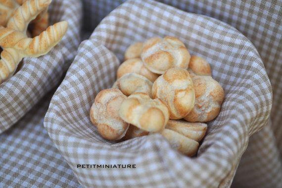 Miniature Baguette,Pane Pugliese,Rosetta,Crocette Ferraresi-Pane Italiano 1 PCS Scala 1:12-Negozio Panetteria