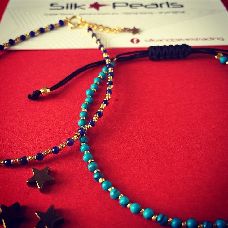 Semi precious stones and 18k gold nuggets