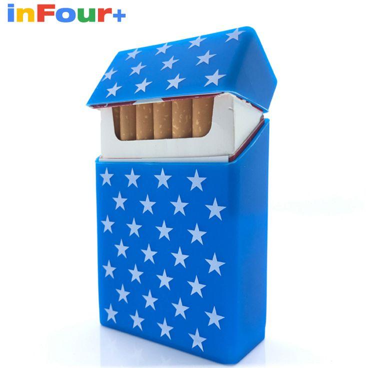 Bule Star Silicone Cigarette Case Silicone Box Lady 20 Women Cigaret Box Cigarette Box Case Pitillera De Silicona Cigarete Case #Affiliate