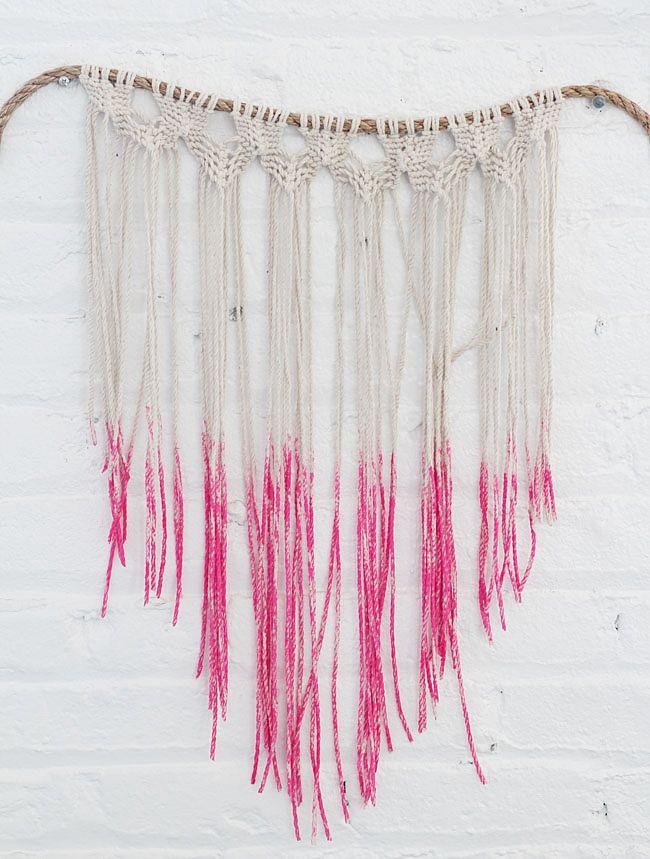 DIY: macrame hanging