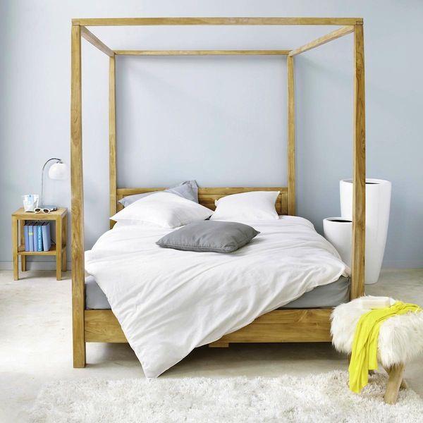 les 25 meilleures id es concernant lits baldaquin sur. Black Bedroom Furniture Sets. Home Design Ideas