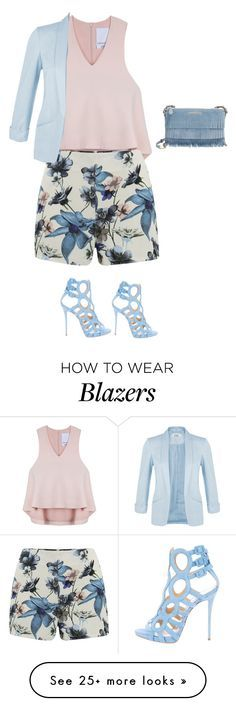 """""""Untitled #791"""" by sylviabunny on Polyvore featuring Cameo, ONLY, Giuseppe Zanotti, Miss Selfridge and Burberry"""