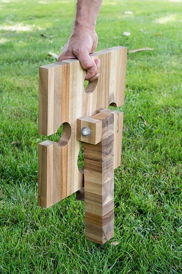 DIY tragbarer Picknick Tisch Weintisch aus Schneidebrett - Ikea Hack