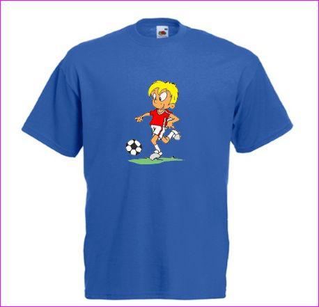 Boys football T-shirt and mug gift set