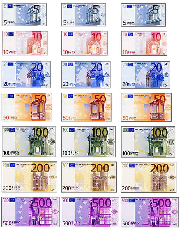 Euro, also, lots of French printables