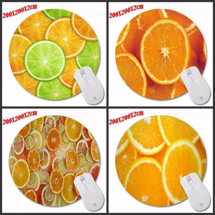 Delicious Orange High Quality Round Texture Rubber Mousepad Computer Loptop Desktop Swirled Mice Mat Optical Anti-slip Gaming