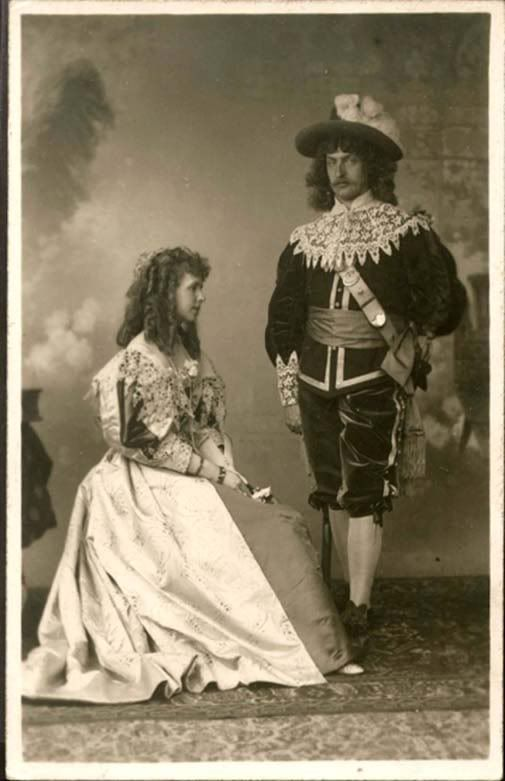 Crown Prince Ferdinand of Romania and Crown Princess Marie - masked ball.