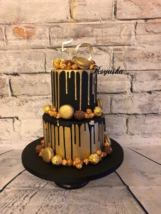 Black Gold Cake By Ksyusha Birthday Cakes For Men 50th