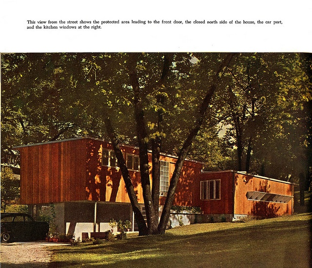 Idea House II - McCall's Book of Modern Houses (1951)    Designed by:   William Friedman and Hilde Reiss with architect Malcolm Lien.  Secret Design Studio knows mid-century modern architecture. www.secretdesignstudio.com