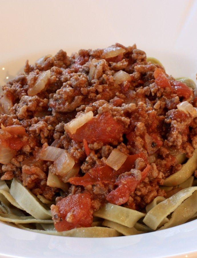 Enkel og god kjøttsaus til pasta