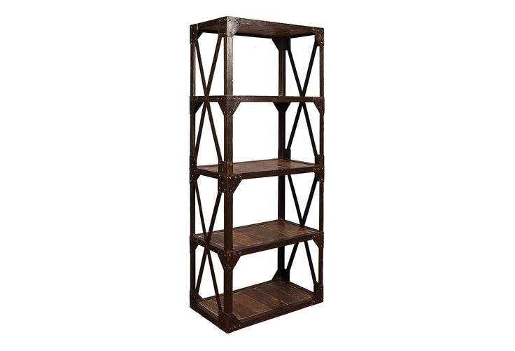 I want want WANT these bookshelves(not one, but two!).  But the price...Ouch.  More than custom built ins.  {sigh...}