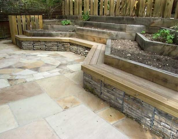 Gabion Retaining Wall : Gabion retaining wall  For the Home  Pinterest