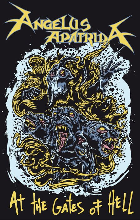 Angelus Apatrida Merchandise - At the Gates of Hell by Marcos Cabrera, via Behance