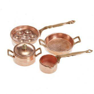 Padelle e pentolini presepe metallo set 4 pz. | vendita online su HOLYART