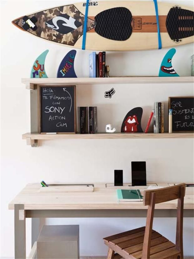 M s de 25 ideas incre bles sobre estante de tabla de surf - Tabla surf decoracion ...