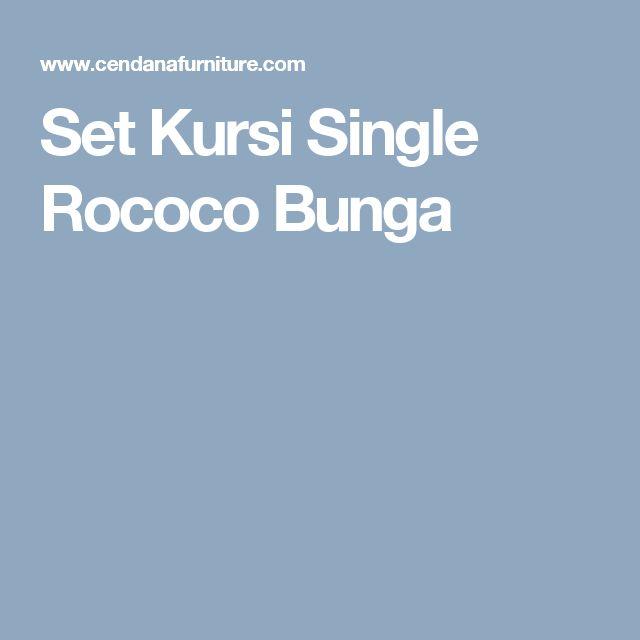 Set Kursi Single Rococo Bunga