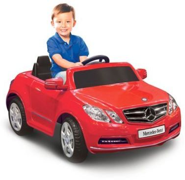 Kid Motorz Mercedes Benz E550 1-Seater 6-Volt Ride  Sporting realistic Benz details, this Mercedes E550 6-Volt Ride-On by Kid Motorz is extra fun and exciting for your little one to cruise around inSuitable for a child 3 years and olderSingle seat ride-on toy features forward and reverse gears and moves at up to 2.5 mphAlso features chrome details on front grill and wheelsUses a 6-volt rechargeable battery (included)UL listed charger includedSupports up to 66 lb.
