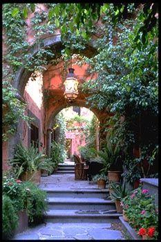 A beautiful Hacienda. something like this leading to my backyard