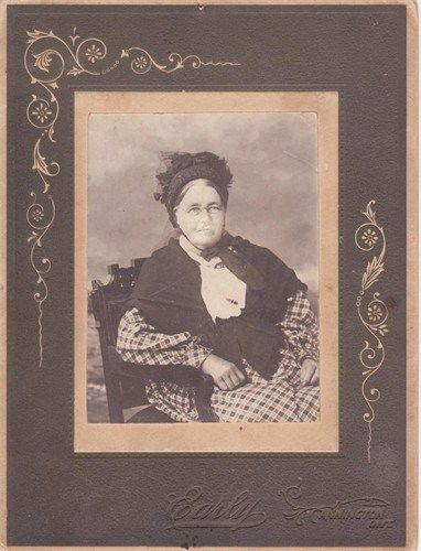 JUST ACQUIRED! Portrait of Mary Ann Lowery (1824 - 1909), wife if James Burnie. This is a very exciting find, for I know almost nothing about my great, great grandmother -- Not even where she is buried. It is exciting, therefore to find an image of her.
