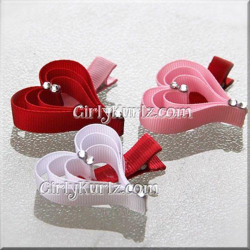 Valentine Heart Hair Clip - these are fun!