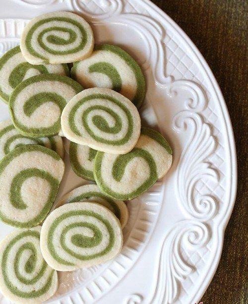 Grüner Tee Swirl Cookies