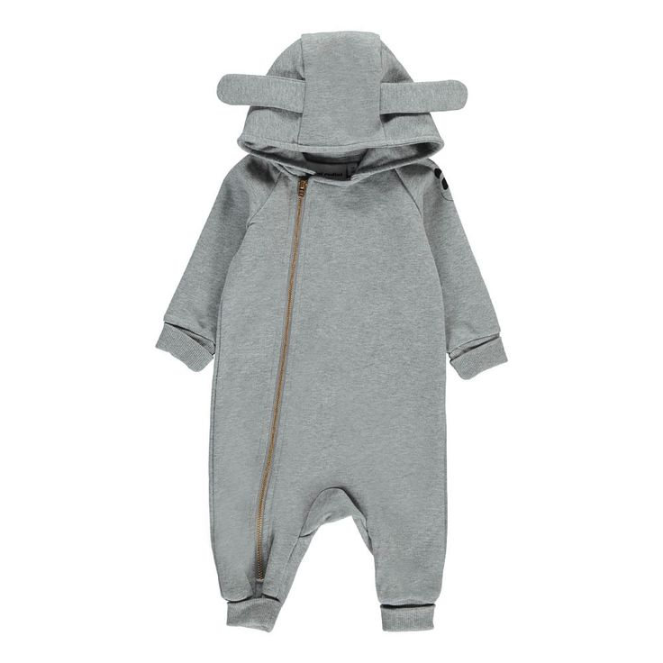 Organic Cotton Romper with Bunny Ears Mini Rodini Baby- A large selection of Fashion on Smallable, the Family Concept Store - More than 600 brands.