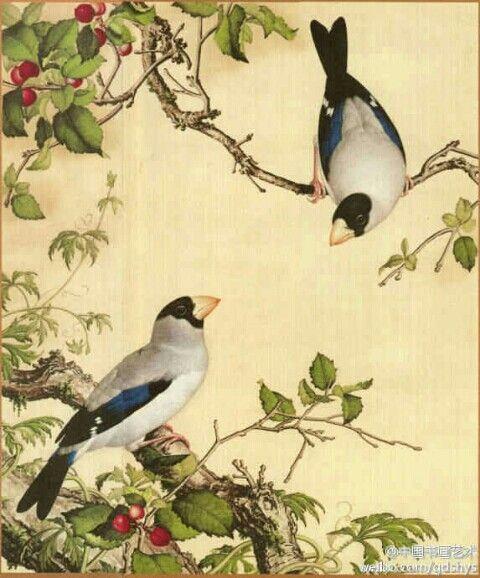 【 清 郎世宁《樱桃》】 郎世宁的《仙萼长春图册》共含16幅图画。其艺术成就很高,因他重视明暗、透视,用中国画工具按西洋画方法作画,形成精细逼真的效果,具有前代所有宫廷绘画中所没有的独特风格,故他的中西合璧画风深受皇家喜爱。