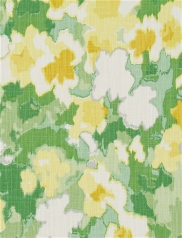 Rousham Romp Cucumber -  Transitional watercolor floral fabric print from Madcap Cottage collection. Great for chair fabric, upholstery fabric or drapery curtain fabric.
