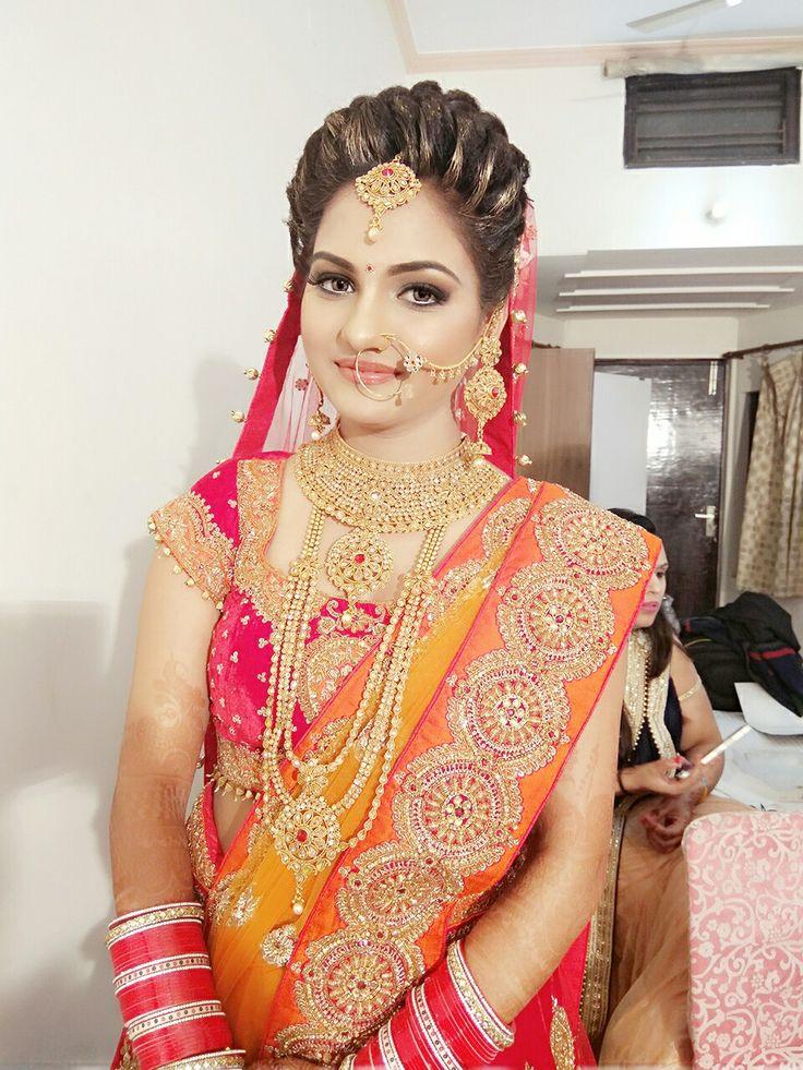 Indian bridal makeup#bridalhairstyling#beautiful bridalmakeup#makeupartistindelhi#indianbride#freelancermakeupartist#