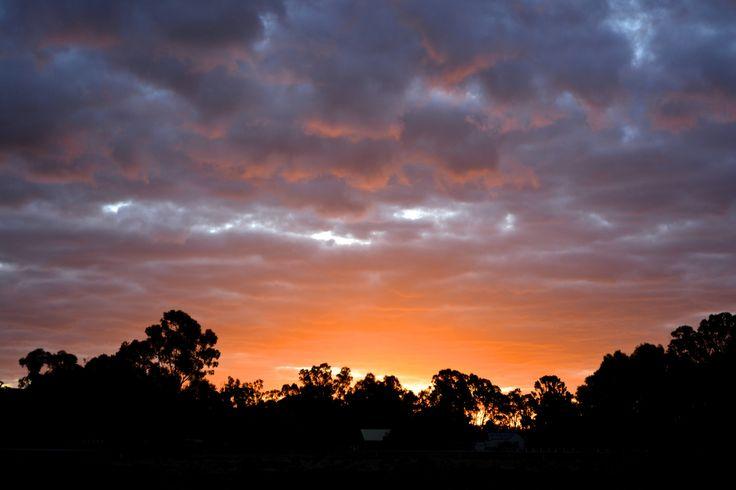 Sunset over Barham