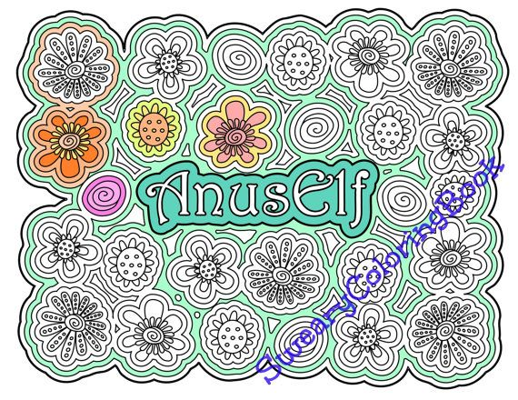AnusElf Swear Words Coloring Page From The By SwearyColoringBook