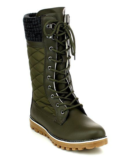 Refresh Olive Polar Boot - Women | zulily