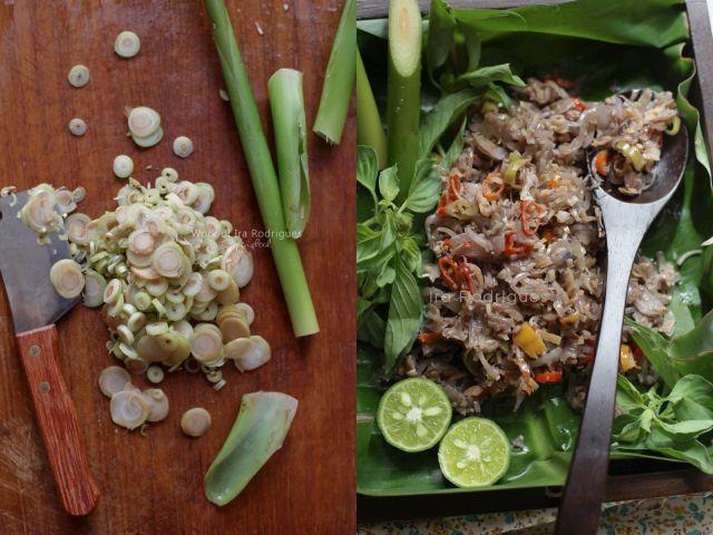 Sambal Bongkot (Torch Ginger Sambal) is an unique sambal and originated from Bali.
