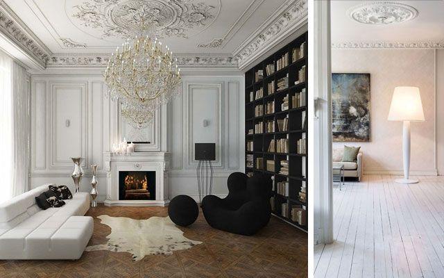 Rosetones y molduras de techo clásicas para casas modernas