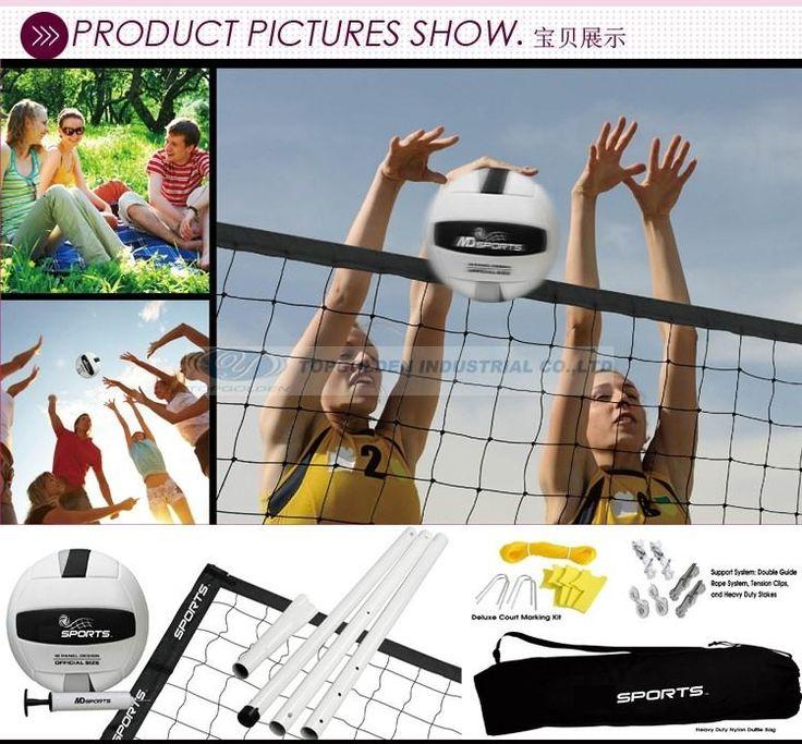 Спорт Отдыха Набор Волейбол Пляжный Волейбол Набор Игрушки Пляжные Виды Спорта (Adjustbale Полюса, чистая + ж/сумка)