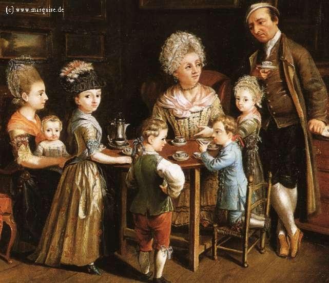The Artist's Family by Johann Anton Tischbein, 1779  Museum für hamburgische Geschichte